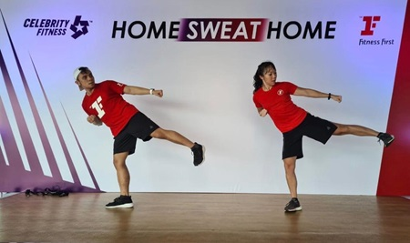 HOME SWEAT HOME FITNESS ONLINE CLASS CARDIO BODYCOMBAT
